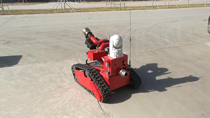 我公司CDFDM移动视频图传系统在山东某消防机器人项目成功应用