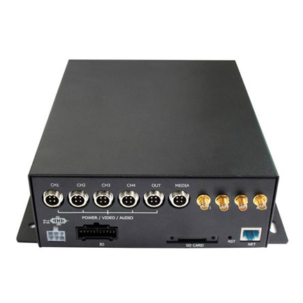 标清4路航空头通用型3G/4G无线车载硬盘录像机